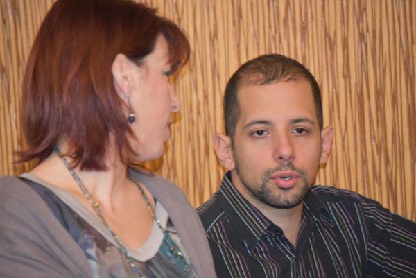 Sandra DAUJAT avec Philippe AÏM au cours de la formation EMDR - IMO sur le Psychotraumatisme au CHTIP Collège d'Hypnose et Thérapies Intégratives de Paris