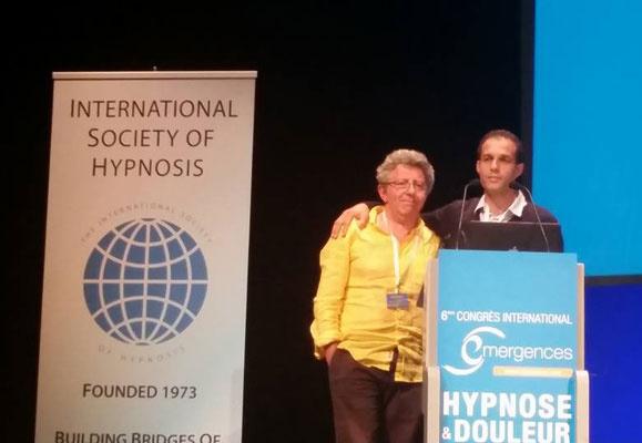 Laurent GROSS et Chedli MAHDAOUI au Congrès Hypnose et Douleur