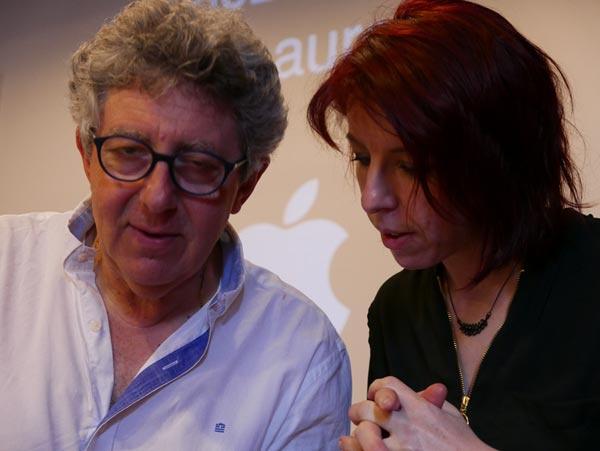 Sandra DAUJAT avec Laurent GROSS au cours de la formation EMDR - IMO sur le Psychotraumatisme au CHTIP Collège d'Hypnose et Thérapies Intégratives de Paris