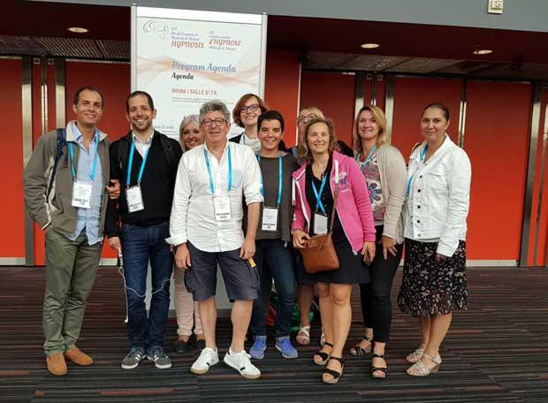CHTIP (Paris)(Laurent Gross et Philippe Aïm), UTHYL (Nancy)(Philippe Aïm) et HYPNOTIM (Marseille)(Laurence Adjadj) au Congrès de Montréal 2018